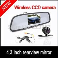 Car Camera   4.3 Color Car Rearview Mirror Kit + 2.4G Wireless Mini Waterproof Car Reversing CCD Camera