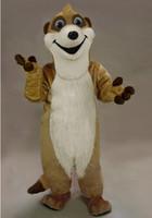 Taille adulte Meerkat peluche costume de mascotte caractère Costumes Belle Meerkat Halloween Fancy Dress Costume Expédition gratuite