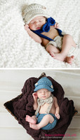 baby photo outfits - Fashion Baby Boys Girls Newborn Infant Kids Hat Bow Tie Pants Crochet Knit Outfit Set Suit Photo Props M