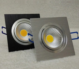 Dimmable 10w COB recessed led ceiling down light Aluminum materail 85-265v led square ceiling lighting warm cool white