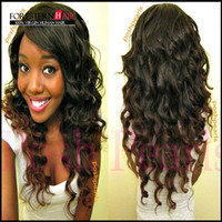 Cheap HOT! Two tone Brazilian virgin human hair deep wave front lace wig & glueless full lace wig with baby hair free shipping in stock