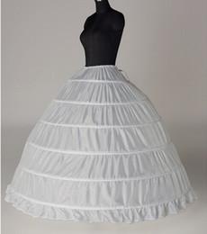 New Wedding Dress Petticoats Nylon White Ball Gown Full Gown 1 Tier Floor-length Slip Style  Wedding Petticoats Hooples Crinoline Underskirt