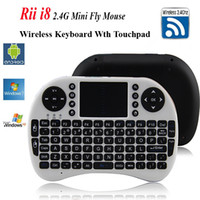 Wholesale Fly Air Mouse Rii Mini i8 G Wireless Keyboard with Multi Media Remote Control Touchpad Handheld for Google Android Smart TV Box Tablet PC