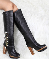 Wholesale 2013 U S new large size women sexy black faux suede high heels Medicine knight boots casual fashion boots