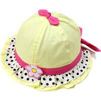 Cheap Children's winter hat3078 baby hat children hat baby hat spring and summer princess flower hat bucket hats Korean girlswinter fur hats
