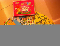 Wholesale sand painting gift box packing free shiping with bottles color sand big size sand paper