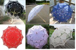 Wholesale Battenburg Lace Parasol Umbrella Wedding Bridal