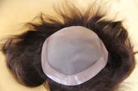 Brazilian Hair men hair toupee - Human hair Men s toupee base pu arround Brazilian Hair men s wig piece quot x6 quot quot x9 quot quot x10 quot B in stocks