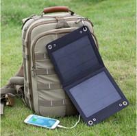 Wholesale Traveller W Foldable Solar Panel Portable Solar Charger solar battery panel usb flexible solar panel