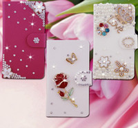 Cheap 7 Style Leather Flip Stand Wallet Bling Case Cover For Samsung Galaxy Mega 5.8 i9152 9152