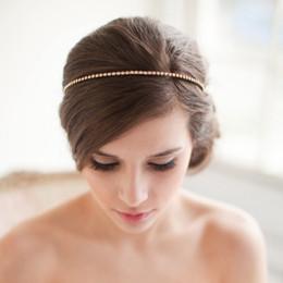 Crystal Hair Loop Hair Jewelry Hair Accessory Wedding Hair Jewelry Gold Pleated Headband Hair Vine Wedding Headpiece Bride Hair Accessories