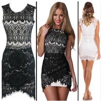Real Images 2015 Cocktail Dresses Crew Lace Style Sheath Wom...