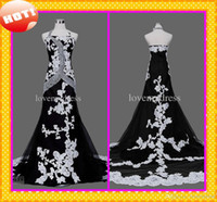 big bridal dresses - 2014 Fashion Design Black And White Halter Appliques Glitter Sequins Beads Luxury Big Crystals Hot Wedding Dresses Bridal Dress Gowns