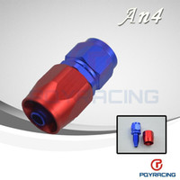 Wholesale 4 AN AN Straight Aluminum Swivel Hose End Fitting Adapter Oil Fuel Line