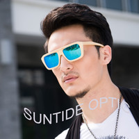 Wholesale Fashion bamboo wood sunglasses polaroid eyewear women men wooden eyeglasses ZA16
