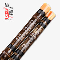 Wholesale black bamboo flute beginner single professional black bamboo flute flute flute a musical instrument factory outlets
