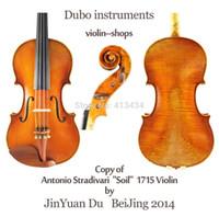 Wholesale Copy Antonio Stradivari quot Soil quot Violin M7031 quot All European Wood quot One Pc Back