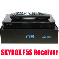 Wholesale Newest Original Skybox F5S HD Full P Satellite TV Receiver Support youtube youporm VFD display usb Wifi GPRS Cccam Set Top Box TV Box
