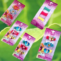 Wholesale 9 off in stock cm Cartoon frozen elsa anna Princess Towel ring hair accessories Children s hair accessories drop shipping hot FN