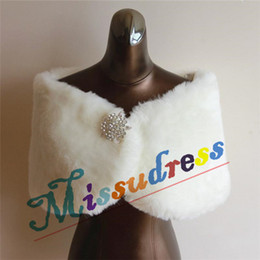 2015 Hot New Winter Fur Bridal Wedding Wrap Shawl Coats Bolero Bridal Accessories Further Jacket Custom Made