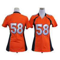 Cheap #58 Von Miller Orange Womens American Football Jerseys Game Athletic Wear 2014 New Style Cheap Top QUality Sportswear Mix Order All Players