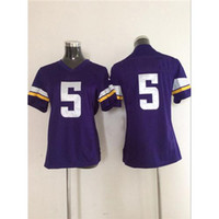 Cheap Cheap Top Quality Womens Football Jerseys#5 Teddy Bridgewater Purple Game American Football Jerseys Name Number Stiched Teams Football Kits
