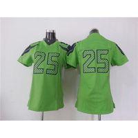 Wholesale Womens Football Jerseys Richard Sherman Green Game American Football Jerseys Cheap Top Quality Sportswear Mix Order All Teams
