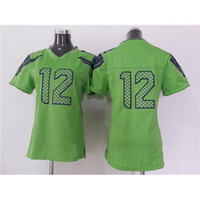 Wholesale Fan Green Womens Football Jerseys Game American Football Jerseys Cheap Football Uniforms Name Number Sewn On Football Kits Season