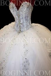 Wholesale 2015 Custom Made New Ball Gown Sweetheart A line Lace Beadings Floor Length Elegant Wedding Dresses Bridal Gowns vestido de Casamento