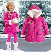 Wholesale 2014 Frozen Down Coat cotton padded Puffer Jacket Girl FROZEN Winter Fleece Outerwear Anna and Elsa Children Hooded Coat Kids Down Parkas