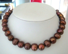 Wholesale baroque mm south sea red chocolate pearl necklace