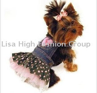 Wholesale 10pc Hot Sale New arrival spring summer dog clothes Pet Coat Pet Outerwears dress Pet Skirt S XXL