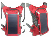 Wholesale 6 W Solar bag charging type outdoor solar backpack riding backpack high efficiency solar cell SunPower charging packet bag