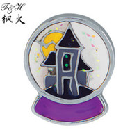 Cheap Fall Holiday Haunted house globe Floating Charms For Memory Glass Lockets charms wholesale New Charms