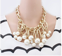 Wholesale Women Girl Fashion Accessories Necklace Lady Pearl Clavicle Chain Girl Necklace G1635C