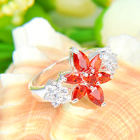 Cheap 2pcs lot Wholesale Holiday Jewelry Gift FREE SHIPPING Brazil Citrine White Zircon Gems 925 Sterling Silver Ring R0485