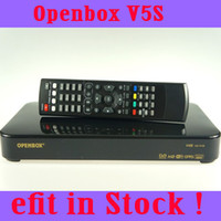 Wholesale In stock Original Openbox V5S HD p Pvr Satellite TV Receiver support USB Wifi youtube youporn cccamd Weather Forecast Openbox