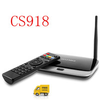 Wholesale New CS918 with Bluetooth WIFI RK3188 Quad Core Ghz Android Mini PC GB GB Android TV Box Smart TV Box Control keyboard