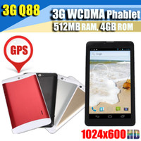 Wholesale 10pcs Inch G Dual Core Dual Sim Android Phablet unlocked Phone mtk6572 Bluetooth Tablet Pc Calling GSM Ghz Wifi Dual Camera WCDMA