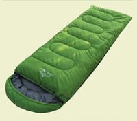 Wholesale 2014 New Scoop Sleeping Bag Cool Weather Envelope Sleeping Bag cm kg T Waterproof Polyester cloth