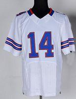 Wholesale 14 Sammy Watkins Jersey Elite White Blue Stitched Buffalo american Football Rookie Jerseys