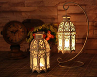 candles and candle holders - Whole saler Wedding gift Iron lantern iron candle Holder with hanger house and shop decoration iron artcraft