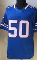 Wholesale 50 Kiko Alonso Jersey stitched Logos Elite game American Buffalo Football Jersey Blue Drift Grey Vapor