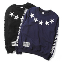 Cheap Wholesale-2014 New Star Printing Fuck Sweatshirts Full O-Neck Cotton Thick Sweatshirts Fashion Men Hip Hop Street Sweatshirts Sweater