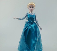 Wholesale 2015 New inch Musical Frozen Doll with Light Anna and Elsa with music quot let it go quot best toys for kids baby girls