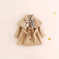 Wholesale new winter long sleeve ChildrenBaby Girl Party warm coat jacket outerwear Tench coats button cardigan coat LY