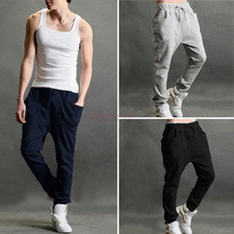 Wholesale Hot Selling High Street Men Loose Trousers Autumn Spring Harem Sport Casual Joggers Men s Pants SV004830