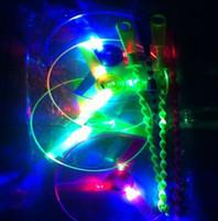 30pcs navires gratuites LED Frisbee clignotant Glow libellule volante Fée hélicoptère LED Glow Disco Party mariage Toy cadeau de Noël