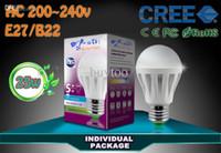 Wholesale Global led warm white and White bulb E27 B22 SMD2835 w w w W W W W W AC86 V led ball bulb