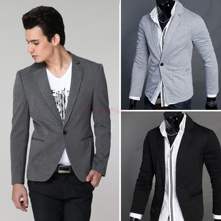 2017 2015 Fashion Office Men New Stylish Men'S Casual Slim Fit One ...